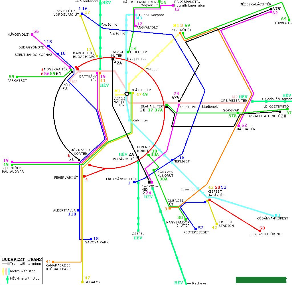 Будапешт Транспортная Карта - фото 3